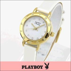 プレイボーイ・バニー PLAYBOY BUNNY PB006YWH アナログ レディース 腕時計 ウォッチ 白 ホワイト 金 ゴールド|tokeiten