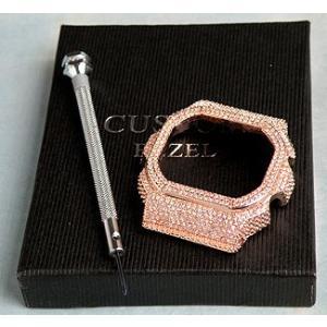 DW5600専用カスタムカバー パーツ単品 ピンクゴールド メンズ 腕時計|tokeiten