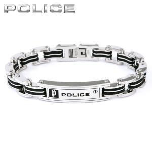 POLICE ポリス 国内正規品 CARB カーブ メンズ アクセサリー 黒 ブラック 銀 シルバー メタル バンド ブレスレット|tokeiten