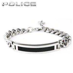 POLICE ポリス DETROIT デトロイト メンズ アクセサリー ブレスレット 銀 シルバー 黒 ブラック メタル バンド 25141BSS01 国内正規品|tokeiten