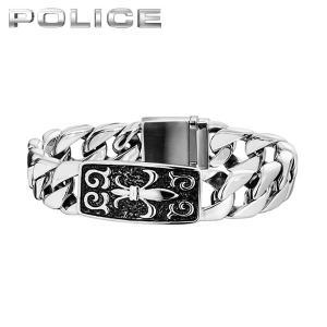POLICE ポリス MERCY メルシー メンズ アクセサリー ブレスレット ユリ 紋章 銀 シルバー 25481BSS-S 国内正規品 メタル|tokeiten