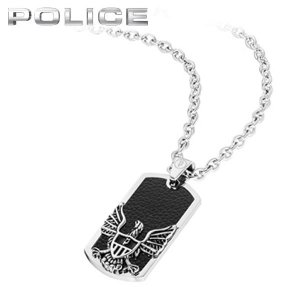 POLICE ポリス INDEPENDENCE インディペンデンス メンズ アクセサリー ネックレス ドッグタグ プレート ペンダント シルバー 黒 ブラック 25712PSS|tokeiten