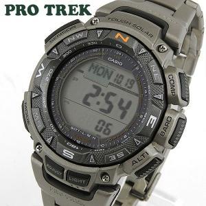CASIO カシオ PRO TREK PROTREK プロトレック デジタル メンズ 腕時計 ウォッチ PRG-240T-7 タフソーラー チタン 海外モデル|tokeiten