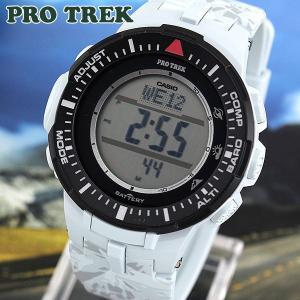 プロトレック ソーラー 時計 PRO TREK タフソーラー PRG-300CM-7 デジタル メンズ 腕時計 グレー ウレタン 登山 アウトドア トレッキング|tokeiten