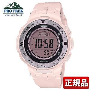 PRO TREK プロトレック CASIO カシオ タフソーラー 気圧・高度計 PRG-330-4JF デジタル メンズ レディース 腕時計 国内正規品 ピンク 銀 シルバー ウレタン|tokeiten