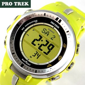 CASIO PRO TREK カシオ プロトレック レディース メンズ 腕時計 PRW-3000-9B 海外モデル イエロー ソーラー電波 方位・気圧・高度計 アウトドア|tokeiten