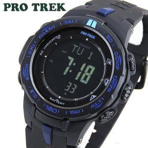 CASIO カシオ PRO TREK プロトレック タフソーラー 電波 PRW-3100Y-1 海外モデル メンズ 腕時計 ウォッチ 黒 ブラック 青 ブルー|tokeiten