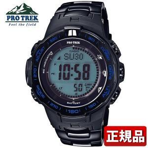 プロトレックタフソーラー 電波時計 PRW-3100YT-1JF メンズ 腕時計 多機能 デジタル 黒 ブラック 青 ブルー 国内正規品|tokeiten