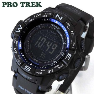 CASIO カシオ PRO TREK プロトレック 多機能 デジタル メンズ 腕時計 ウォッチ 黒 ブラック 青 ブルー PRW-3500Y-1|tokeiten