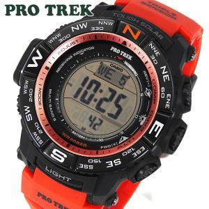 CASIO カシオ PRO TREK プロトレック ソーラー電波時計 メンズ 腕時計 MULTI FIELD LINE マルチバンド6 PRW-3500Y-4 海外モデル オレンジ