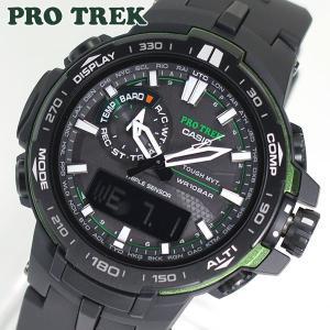 CASIO カシオ PRO TREK プロトレック メンズ 腕時計 時計 電波 ソーラー PRW-6000Y-1A 海外モデル 電波ソーラー ブラック 黒|tokeiten