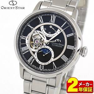 セルベット付 ORIENT STAR オリエントスター ムーンフェイズ 機械式 メカニカル 自動巻き RK-AM0004B 国内正規品 メンズ 腕時計 ブラック|tokeiten