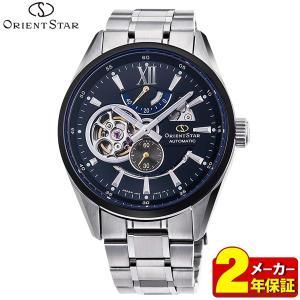 カレンダー付 ORIENT STAR オリエントスター 機械式 メカニカル 自動巻き RK-DK0003B セミスケルトン メンズ 腕時計 国内正規品 ネイビー|tokeiten