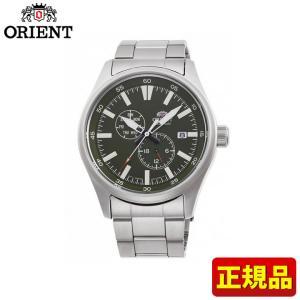 先着8%OFFクーポン SPORTS スポーツ ORIENT オリエント 機械式 メカニカル 自動巻き RN-AK0402E メンズ 腕時計 国内正規品 緑 グリーン 銀 シルバー メタル tokeiten
