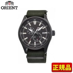 先着8%OFFクーポン SPORTS スポーツ ORIENT オリエント 機械式 メカニカル 自動巻き カレンダー RN-AK0403N メンズ 腕時計 国内正規品 緑 グリーン グレー tokeiten