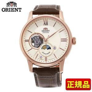 ORIENT オリエント クラシック SUN&MOON サン&ムーン RN-AS0002S 国内正規品 メンズ 腕時計 機械式 メカニカル 自動巻き ピンクゴールド ブラウン|tokeiten