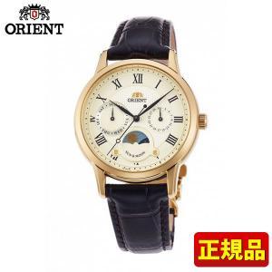 ORIENT オリエント クラシック SUN&MOON サン&ムーン RN-KA0002S 国内正規品 レディース 腕時計 金 ゴールド 革ベルト レザー|tokeiten