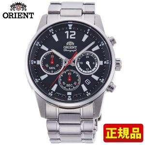 ORIENT オリエント スポーティー RN-KV0001B クロノグラフ 国内正規品 メンズ 腕時計 ウォッチ 銀 シルバー 黒 ブラック|tokeiten