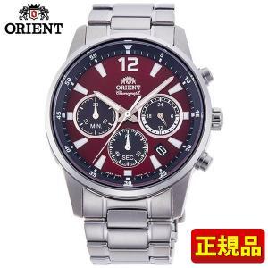 ORIENT オリエント スポーティー RN-KV0003R クロノグラフ 国内正規品 メンズ 腕時計 ウォッチ 銀 シルバー 赤 レッド|tokeiten