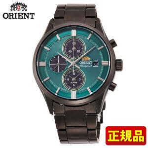 オリエント コンテンポラリー ライトチャージ RN-TY0001E クロノグラフ メンズ 腕時計 国内正規品 緑 グリーン|tokeiten