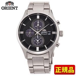 オリエント コンテンポラリー ライトチャージ RN-TY0002B クロノグラフ メンズ 腕時計 国内正規品 黒 ブラック 銀 シルバー|tokeiten