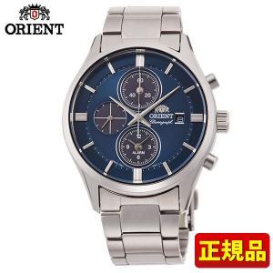 オリエント コンテンポラリー ライトチャージ RN-TY0003L クロノグラフ メンズ 腕時計 国内正規品 青 ネイビー 銀 シルバー|tokeiten