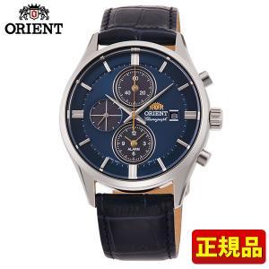 オリエント コンテンポラリー ライトチャージ RN-TY0004L クロノグラフ メンズ 腕時計 国内正規品 青 ネイビー 銀 シルバー|tokeiten