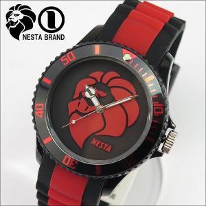 NESTA BRAND ネスタブランド メンズ レディース ユニセックス 腕時計 ブラック×レッド RP40RB|tokeiten