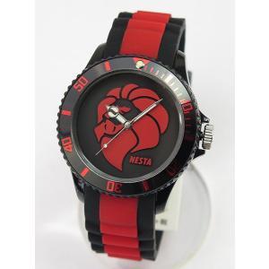 NESTA BRAND ネスタブランド メンズ レディース ユニセックス 腕時計 ブラック×レッド RP40RB|tokeiten|02