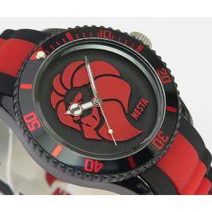 NESTA BRAND ネスタブランド メンズ レディース ユニセックス 腕時計 ブラック×レッド RP40RB|tokeiten|03