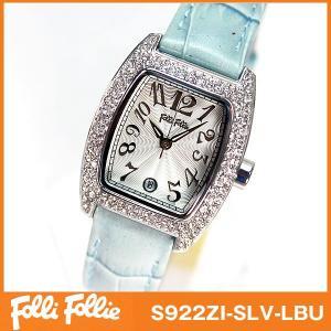 フォリフォリ Folli Follie 腕時計 レディース ライトブルー|tokeiten