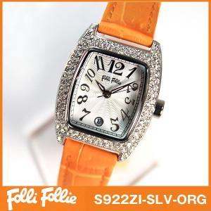 フォリフォリ Folli Follie 腕時計 レディース オレンジ|tokeiten