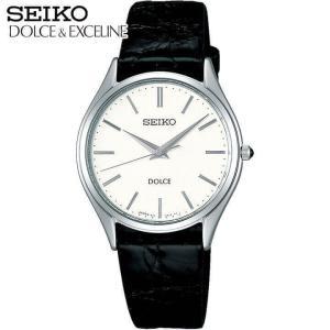 25日から最大31倍 7年保証 セイコー ドルチェ&エクセリーヌ 腕時計 メンズ SEIKO DOLCE&EXCELINE 電池式クオーツ ワニ革ベルト ブラック SACM171 国内正規品|tokeiten