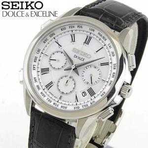 ストアポイント10倍 レビュー7年保証 SEIKO セイコー ドルチェ&エクセリーヌ 電波ソーラー SADA039 国内正規品 メンズ 腕時計 シルバー クロコ|tokeiten