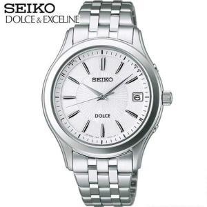 ポイント最大26倍 セイコー ドルチェ&エクセリーヌ 腕時計 メンズ SEIKO DOLCE&EXCELINE 電波ソーラー SADZ123 国内正規品 ホワイト シルバー メタル バンド|tokeiten