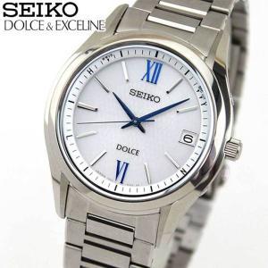 25日から最大31倍 セイコー ドルチェ&エクセリーヌ 腕時計 メンズ SEIKO DOLCE&EXCELINE 電波ソーラー SADZ185 国内正規品 チタン ブルー シルバー|tokeiten