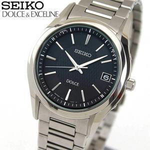 ポイント最大26倍 セイコー ドルチェ&エクセリーヌ 腕時計 メンズ SEIKO DOLCE&EXCELINE 電波ソーラー SADZ187 国内正規品 チタン ブラック シルバー|tokeiten