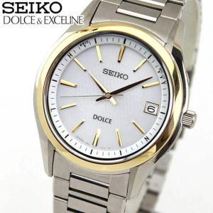 25日から最大31倍 セイコー ドルチェ&エクセリーヌ 腕時計 メンズ SEIKO DOLCE&EXCELINE 電波ソーラー SADZ188 国内正規品 チタン シルバー ゴールド|tokeiten