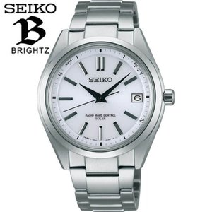 ポイント最大26倍 セイコー ブライツ 腕時計 SEIKO BRIGHTZ 電波ソーラー メンズ チタン 時計 SAGZ079 国内正規品 白文字盤 シルバー|tokeiten