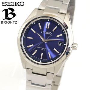 ポイント最大26倍 セイコー ブライツ 腕時計 SEIKO BRIGHTZ 電波ソーラー メンズ チタン SAGZ081 国内正規品 アナログ ウォッチ ブルー|tokeiten