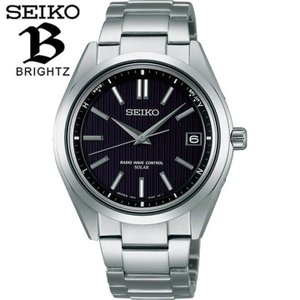 ポイント最大26倍 レビュー7年保証 セイコー ブライツ 腕時計 SEIKO BRIGHTZ 電波ソーラー メンズ チタン 時計 SAGZ083 黒 ブラック|tokeiten