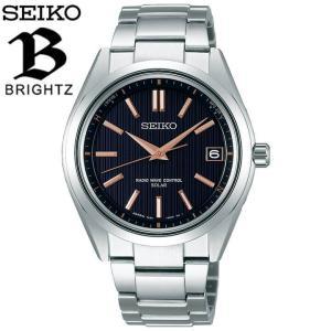 BRIGHTZ ブライツ SEIKO セイコー 電波ソーラー SAGZ087 メンズ 腕時計 国内正規品 ピンクゴールド 黒 ブラック チタン メタル|tokeiten