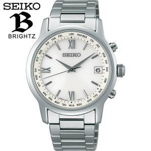 BRIGHTZ ブライツ SEIKO セイコー ソーラー電波時計 メンズ 腕時計 アイボリー シルバー SAGZ095 国内正規品 レビュー7年保証 tokeiten