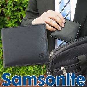SAMSONITE サムソナイト 黒 ブラック メンズ 二つ折り財布 SAM-B2B-252 父の日 誕生日 ギフト プレゼント tokeiten