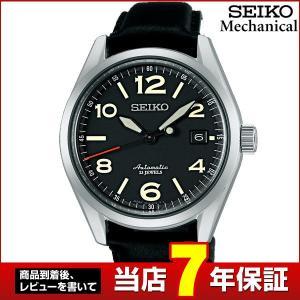 レビュー7年保証 SEIKO セイコー Mechanical メカニカル 機械式 メカニカル 自動巻き SARG011 国内正規品 アナログ メンズ 腕時計 黒 ブラック 革バンド レザー|tokeiten