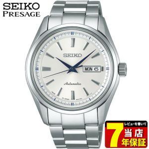 ノベルティ付 ポイント最大26倍 7年保証 SEIKO PRESAGE セイコー プレザージュ メカニカル 自動巻き SARY055 モダンコレクション シルバー ホワイト 腕時計 時計|tokeiten