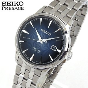 クオカード付 レビュー7年保証 SEIKO セイコー PRESAGE プレザージュ 機械式 メカニカル 自動巻き SARY073 国内正規品 メンズ 腕時計 ブルー シルバー バンド|tokeiten