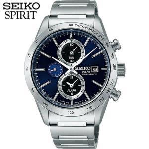 7年保証 セイコー スピリット 腕時計 SEIKO SPIRIT ソーラー クロノグラフ メンズ SBPY115 サファイヤガラス 国内正規品|tokeiten