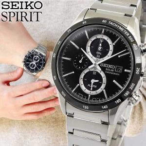 7年保証 セイコー スピリット 腕時計 SEIKO SPIRIT ソーラー クロノグラフ メンズ SBPY119 国内正規品 サファイヤガラス|tokeiten