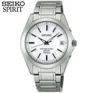 ポイント最大26倍 レビュー7年保証 セイコー スピリット 腕時計 SEIKO SPIRIT 電波ソーラー 電波 ソーラー チタン メンズ SBTM213 国内正規品 ホワイト バンド tokeiten